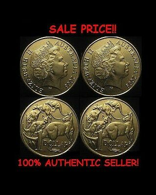PAIR OF REAL DOUBLE SIDED AUSTRALIAN DOLLAR Coin 1 Two Headed 1 Two Tailed Coin