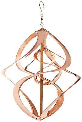 Copper Art Kinetic Windmill Wind Double Spinner Hanging Home Ceiling Tree Decor