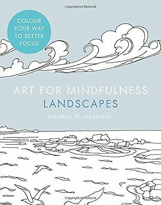 Art for Mindfulness Landscapes Adult Colouring Book Brand New 9780007947492 TT