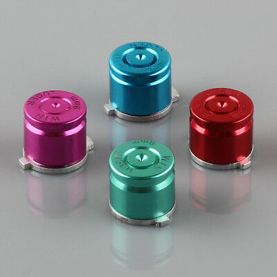 4pcs Aluminum Metal Bullet Buttons Kit for PS3/PS4 Controller Multicolor
