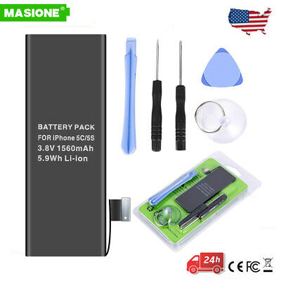 1560mAh Li-ion Internal Battery Replacement for iPhone 5S 5C 616-0722 + Tools