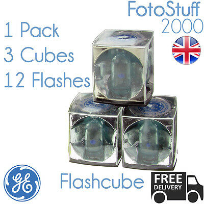 Flashcube GE 42409 Vintage Standard Flashcube   1 Pack of 3 Cubes for 12 Flashes