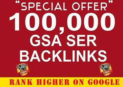 100,000 Backlinks Best Seo Google Ranking 2019