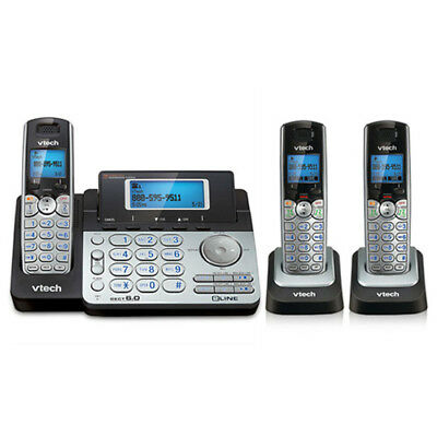 Vtech DS6151 with 2 DS6101 2 Line Expandable cordless phone