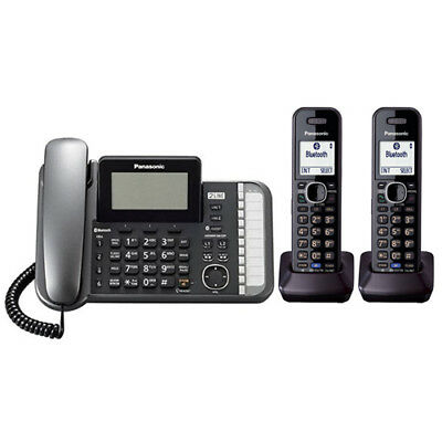 Panasonic KX-TG9582B 2 Handset Corded / Cordless 2 Line DECT 6.0 Phone NEW!