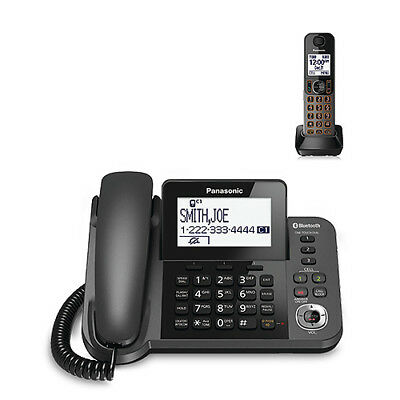 "Panasonic KX-TGF380M 2 Handset Corded / Cordless Phone W/ 3.4"" LCD Display New"