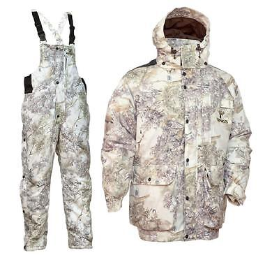 2 pc King's Camo Snow Parka & Bibs Set Weather Pro Insulated Hunting Bundle Lot