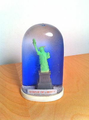 Rare Old STATUE OF LIBERTY new york popsicle shaped snowdome snow globe