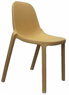 Replica Outdoor Stackable Restaurant Bar Cafe Dining Chair Broom Natural