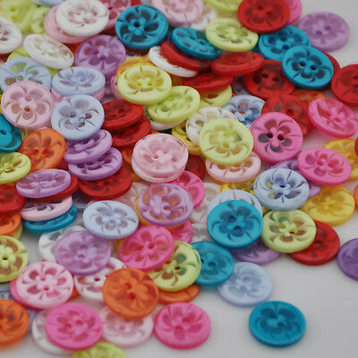 50/100pcs 13mm Mini 2Holes Plastic Buttons For Kid's Sewing Crafts Lots PF95