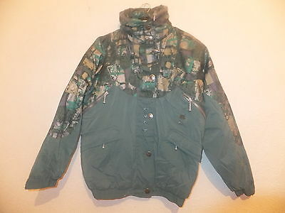 Brand New Girls Trespass Padded Waterproof Jacket With Hood Green Mix Ages 7-14