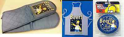 The Simpsons Beer Collection Kitchenware, Apron,  Double Oven Gloves, Coasters