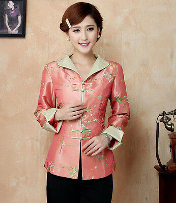 New Arrival Chinese Traditional Women's  Embroider Flower Coats Jackets  M-3XL