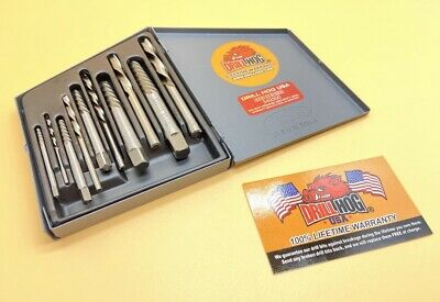 10 Pc Left Hand Drill Bits Handed Screw Extractor Lifetime Warranty Drill Hog®