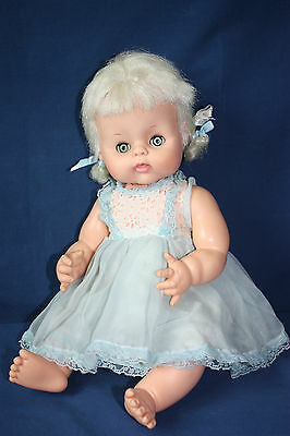 Vintage Horsman Girl Doll Blond, Blue Eyes, Open & Close Eyes