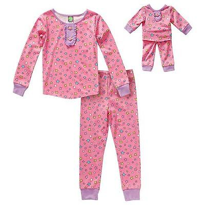 20c31b0410 Dollie   Me Girl 4-14 and Doll Matching Star Pajama Set Outfit fit American