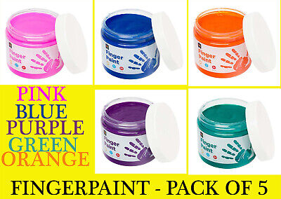 EC- Finger Paint 250ml Tub-Pack of 7 - Total 1,750mls Value Pack-PRICE REDUCED!!