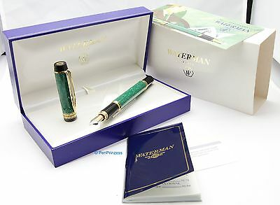 Waterman Patrician jade green CF with 18 k B nib 1992 NOS