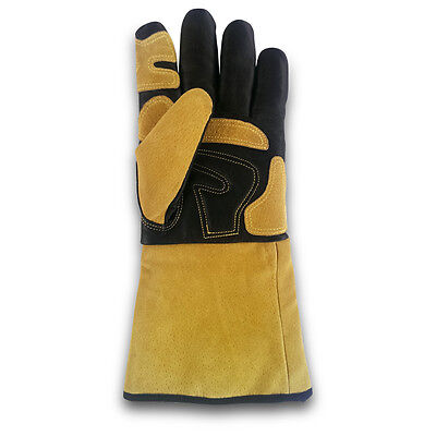 Welding Gloves, full grain cowhide leather - 6 PAIRS
