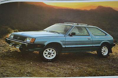True Vintage Original 1982 Subaru Loaded Sales Brochure 28 Pages Free Ship
