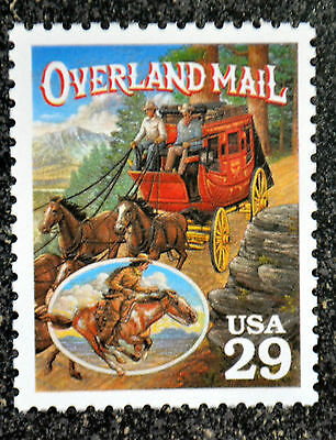 1994USA #2869t 29c Legends of the West  Overland Mail Mint pony express delivery