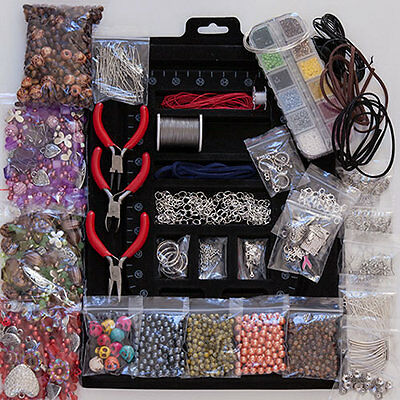 Jewellery Making starter kit beads pliers/ tools findings 4000 items!