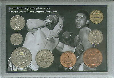 Henry Cooper Floors Cassius Clay Muhammad Ali Vintage Boxing Coin Gift Set 1963