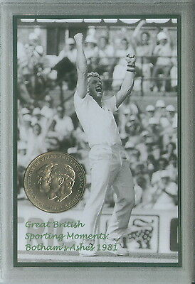 Ian Botham Vintage Bothams The Ashes England Cricket Retro Coin Gift Set 1981