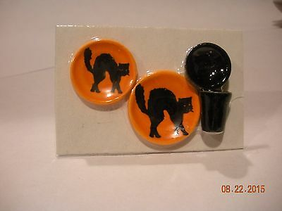 Dollhouse Miniature Inch Scale Scary Black Cat  Place Setting
