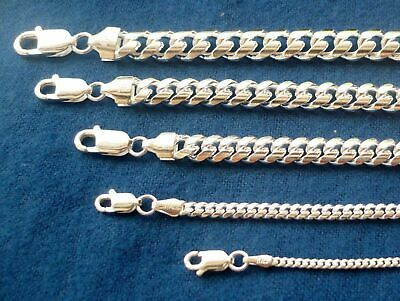 "2Mm - 8Mm Men's Women's Solid 925 Sterling Silver Miami Cuban Link Chain16""-36"""