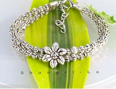 12Pcs Wholesale Mixed Tibetan Silver Bracelets E3