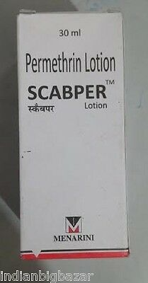 SCABPER PERMETHRIN LOTION 30ml Treatment Of Scabies Mite And Pubic Lice