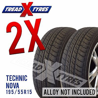 2x New 195/55R15 Technic Tyres Fitting Available 195 55 15 Tyre s