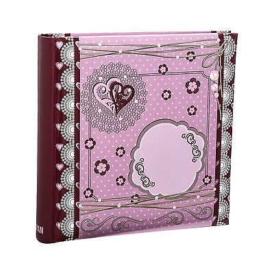 Arpan 6x4 Pink Special Hearts Slip In Memo Photo Album For 200 Photos AL-9150
