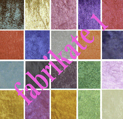 Crushed Velvet Velour Craft Dress Fabric 19 Designs Available FREE P+P