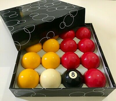 POOL BALLS 2 & 1/4 inch For American 9 Ball Professional 16 FULL Resin Ball Set