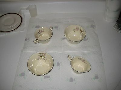 four(4) Vintage Edwin M Knowles Cameo 32.1 Antique China pieces in Original cond