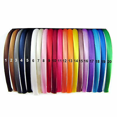 Satin Alice bands ✦ Pack of 6 Alicebands ✦ Hair Head Band Aliceband ✦UK Supplier