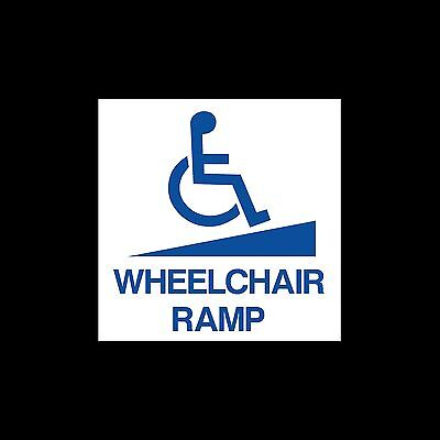 Wheelchair Ramp - External Sticker / Sign - Disabled, Access, Driving