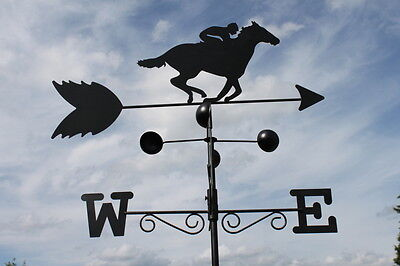 Weathervanes- Steel HORSE RACER  Weathervane- NOW REDUCED