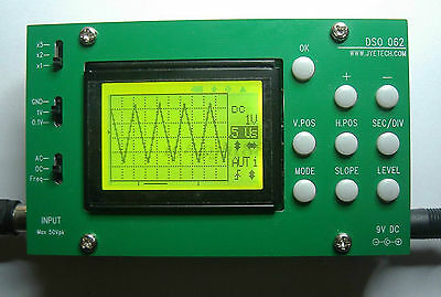 DSO062 Digital Oscilloscope 1MHz Analog Bandwidth 20MSa/s DIY Kits for Arduino