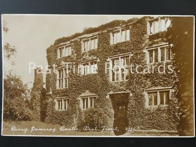 Devon BERRY POMEROY CASTLE West Front - Old RP Postcard by Salmon 2334