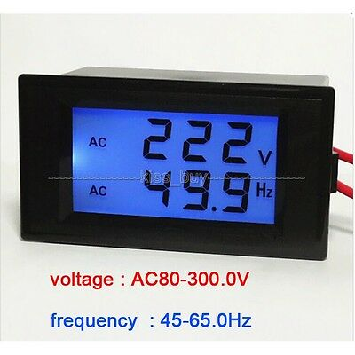 Digital LED AC Voltmeter/Frequency Panel Meter Power 110V 220V 50Hz/60Hz