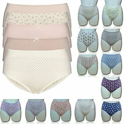 EX M&S Marks & Spencer Ladies / Womens 3 Pack Midi Briefs / Knickers