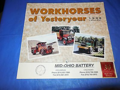 """1998 Mid-Ohio Battery """"workhorses Of Yesteryear""""calender Features Vintage Trucks"""