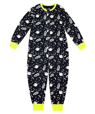 Boys Ex Primark Cotton Onesie All In One Pyjamas Spaceships And Aztec Age 2-7