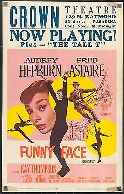 "FUNNY FACE 1957 U.S. 14""x22"" poster Audrey Hepburn Fred Astaire filmartgallery"