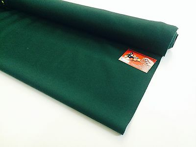 ENGLISH Hainsworth Pool Snooker Billiard Table Cloth Felt 8ft DARK RANGER GREEN