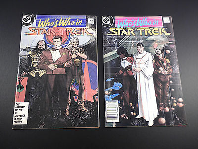Star Trek Who's Who DC 1987 #1 and 2 LOT F/VF COMBINED SHIPPING more comics