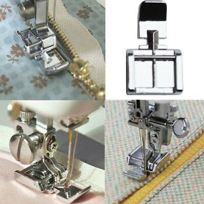 New Zipper Foot 2 Sides For Sewing Machine Brother Janome Singer Snap-on Models